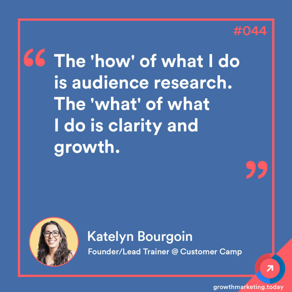 Katelyn Bourgoin - Growth Marketing Today Podcast Quote 2