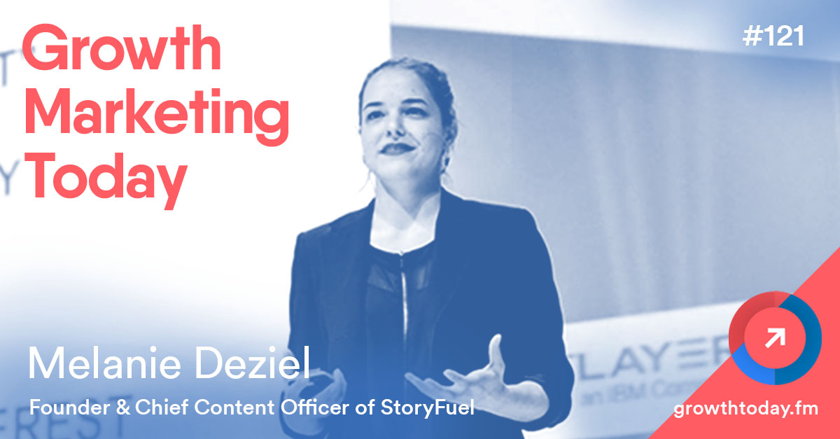 Melanie Deziel on The Growth Marketing Today Podcast